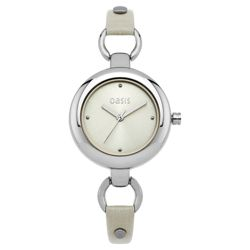 Oasis Round Face Nude Strap Watch