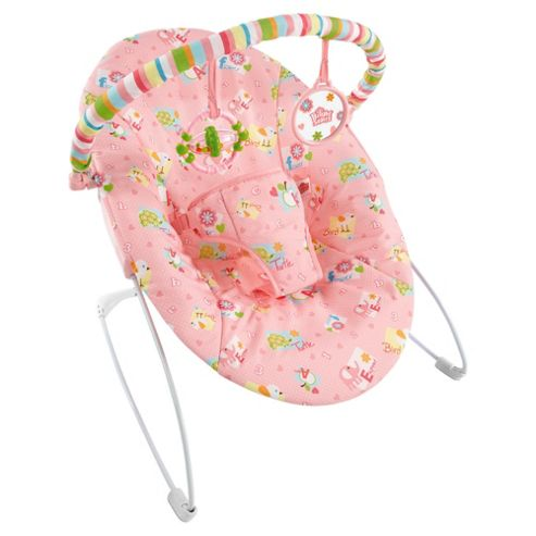 Bright Starts Alphabet Quilt Baby Bouncer, Pink
