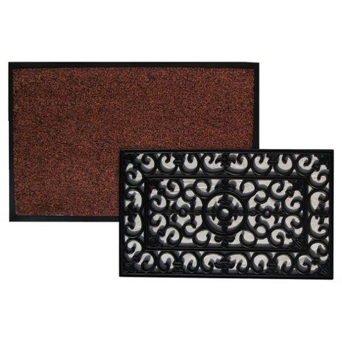 Brown Indoor Mat 60x80cm & Rubber Mat 45x75cm