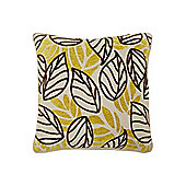 Linea Lime Leaf Chenille Cushion New