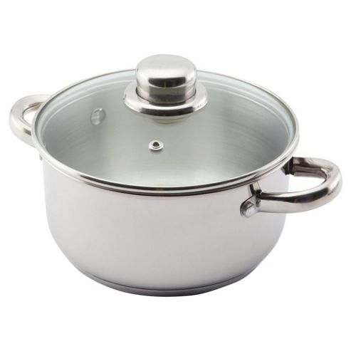 Viners Elements 18cm Stainless Steel Double Handled Pan