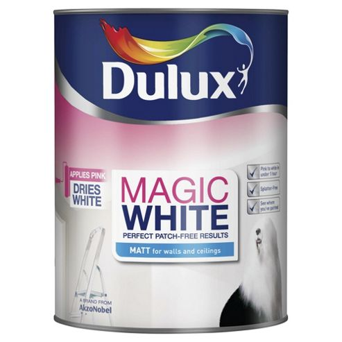 Dulux Magic White Rich Matt Emulsion Paint, Pure Brilliant White, 5L