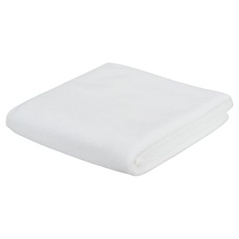 Tesco Fleece Blanket, White