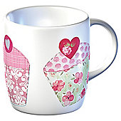 Country Cupcake Set of 4 Mugs
