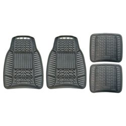 Michelin all-weather rubber 4 piece mat set, black