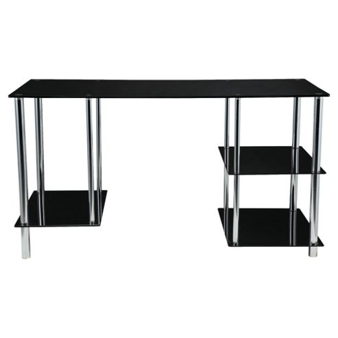 Mercury Straight Desk, Black