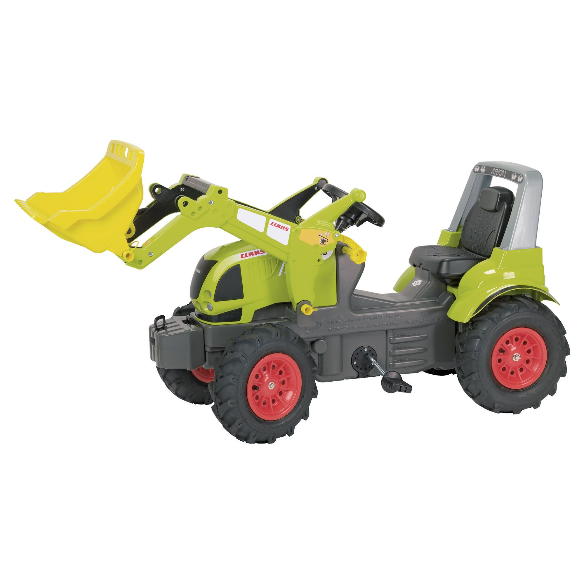 Claas Arion 640 Ride-On Tractor With Pneumatic Tyres & Rolly Trac Loader at Tesco Direct