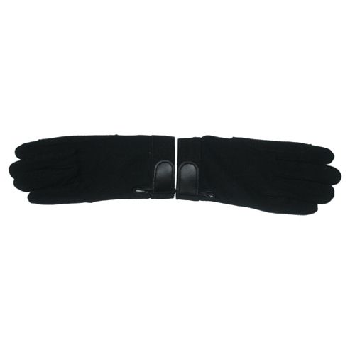Tesco Ladies' Black Riding Gloves, Large