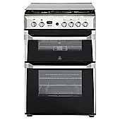 Indesit ID60G2X, Freestanding, Gas Cooker, 60cm, Stainless Steel, Twin Cavity, Double Oven
