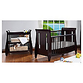 Tutti Bambini Katie Cotbed with Shelf Changer Nursery Room Set, Espresso