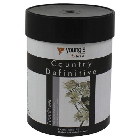Youngs Definitive Country Elderflower Wine Kit, 6 bottles