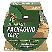 Duck Tape 50mm x 25m Brown Packaging Tape