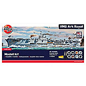 Airfix A50070 Royal Navy Hms Ark Royal 1:600 Scale Wwii Warship Gift Set Including Paint Glue & Brushes