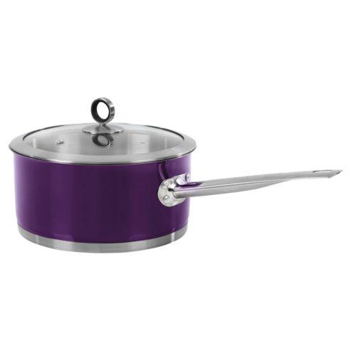 Morphy Richards 20cm Saucepan with Lid, Purple