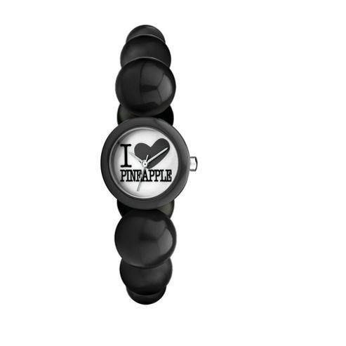 Pineapple Black Bead Bracelet Watch
