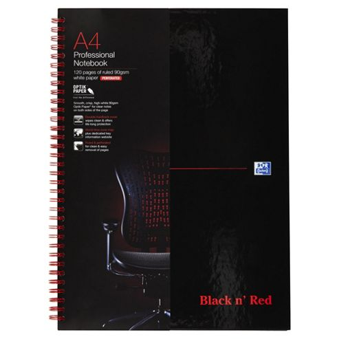 Black & Red A4 Wirebound Notebooks
