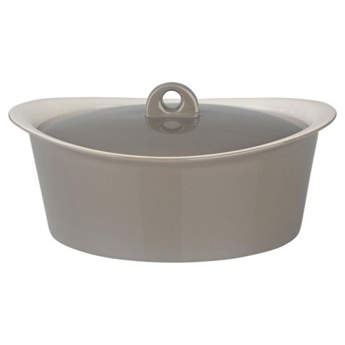 Tesco 2.5L Ceramic Stockpot, Taupe
