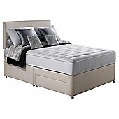 Silentnight Pocket Essentials Memory Foam Double 2 Drawer Divan Bed.