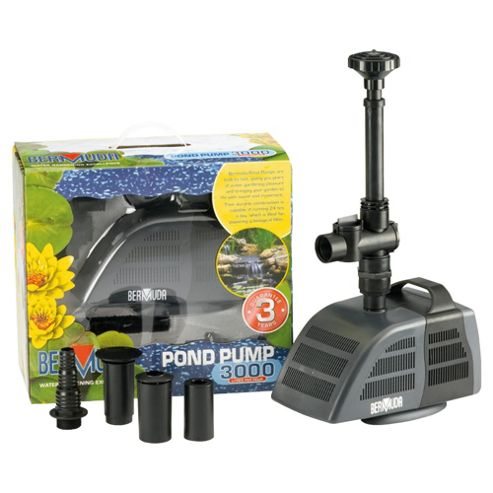 Buy bermuda 3000 pond pump 70w from our water features for Pond pumps direct