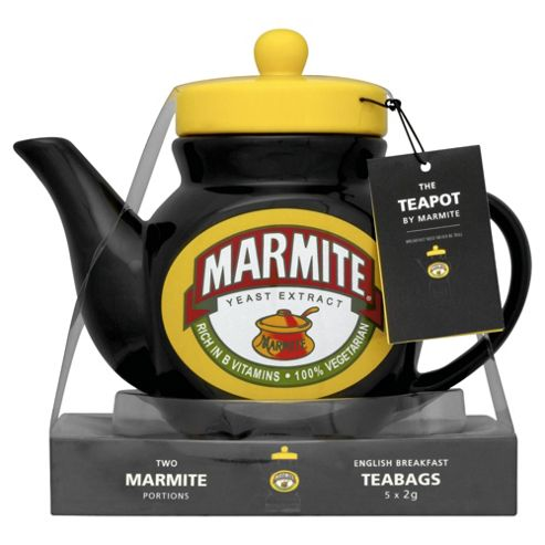 Marmite Teapot, Black and Yellow