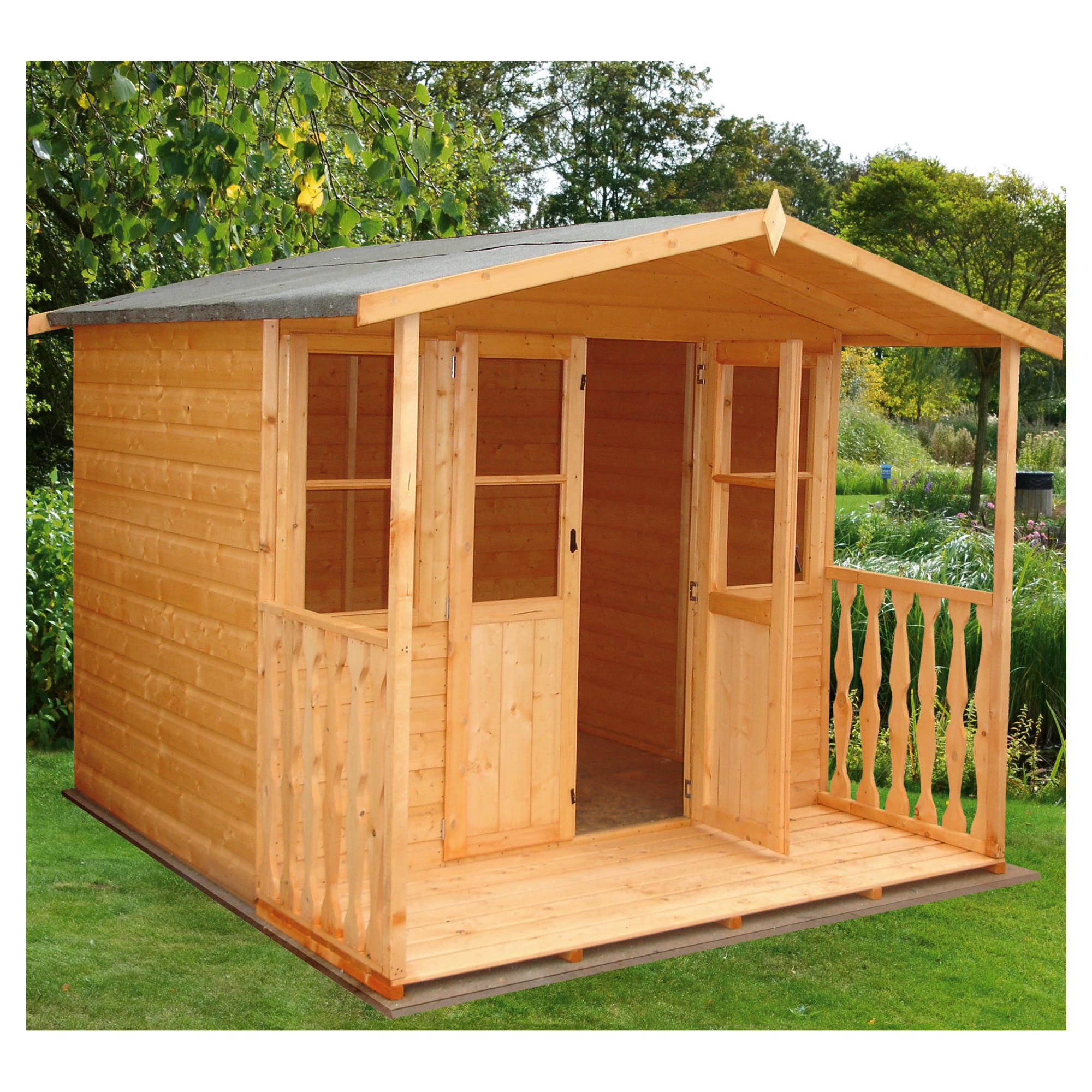 Finewood Houghton 7x7 Summerhouse with Installation at Tesco Direct