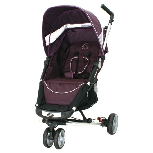 Petite Star Zia X 3 Wheeler Stroller Compact Fold, Purple Berry