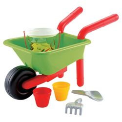 Ecoiffier Toy Wheelbarrow & Accessory Set
