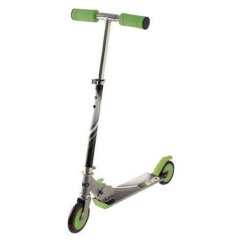 Evo 2-Wheel Inline Scooter, silver and green