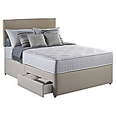Silentnight Pocket Essentials Single 2 Drawer Divan Bed
