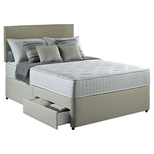 Silentnight Foxton Single Divan Bed with 2 Drawers, 1000 Pocket Luxury