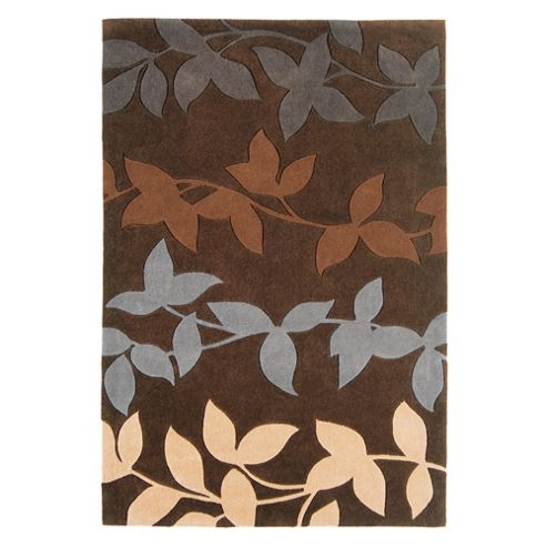 Tesco Rugs Harlequin Vine Rug Chocolate 120x180cm