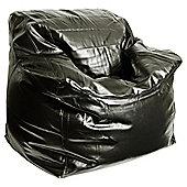 Kaikoo Faux Leather Cozi Bean Bag Chair, Black