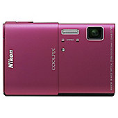 Nikon coolpix S100 3D camera pink 16MP 5xzoom 3.5 touch OLED FHD 28mm wide lens