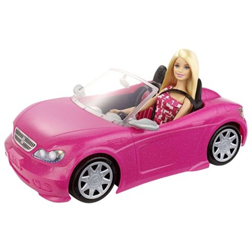 barbie doll and convertible car glam playset fast free ebay. Black Bedroom Furniture Sets. Home Design Ideas