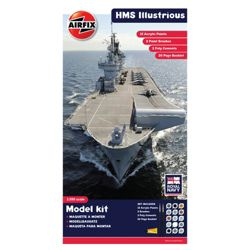Airfix A50059 Royal Navy Hms Illustrious 1:350 Scale Modern Warship Gift Set