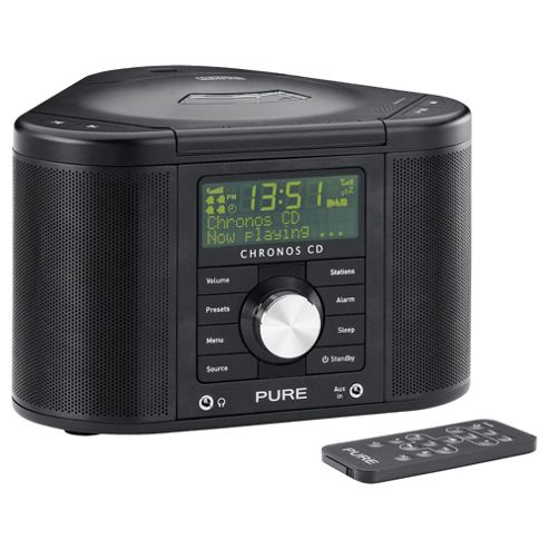 buy pure outlet chronos ii cd dab fm clock radio from our clock radio range tesco. Black Bedroom Furniture Sets. Home Design Ideas