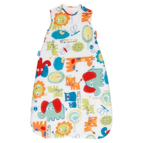 Grobag Baby Sleeping Bag, Doddle Zoo, 0-6 Months, 1 Tog