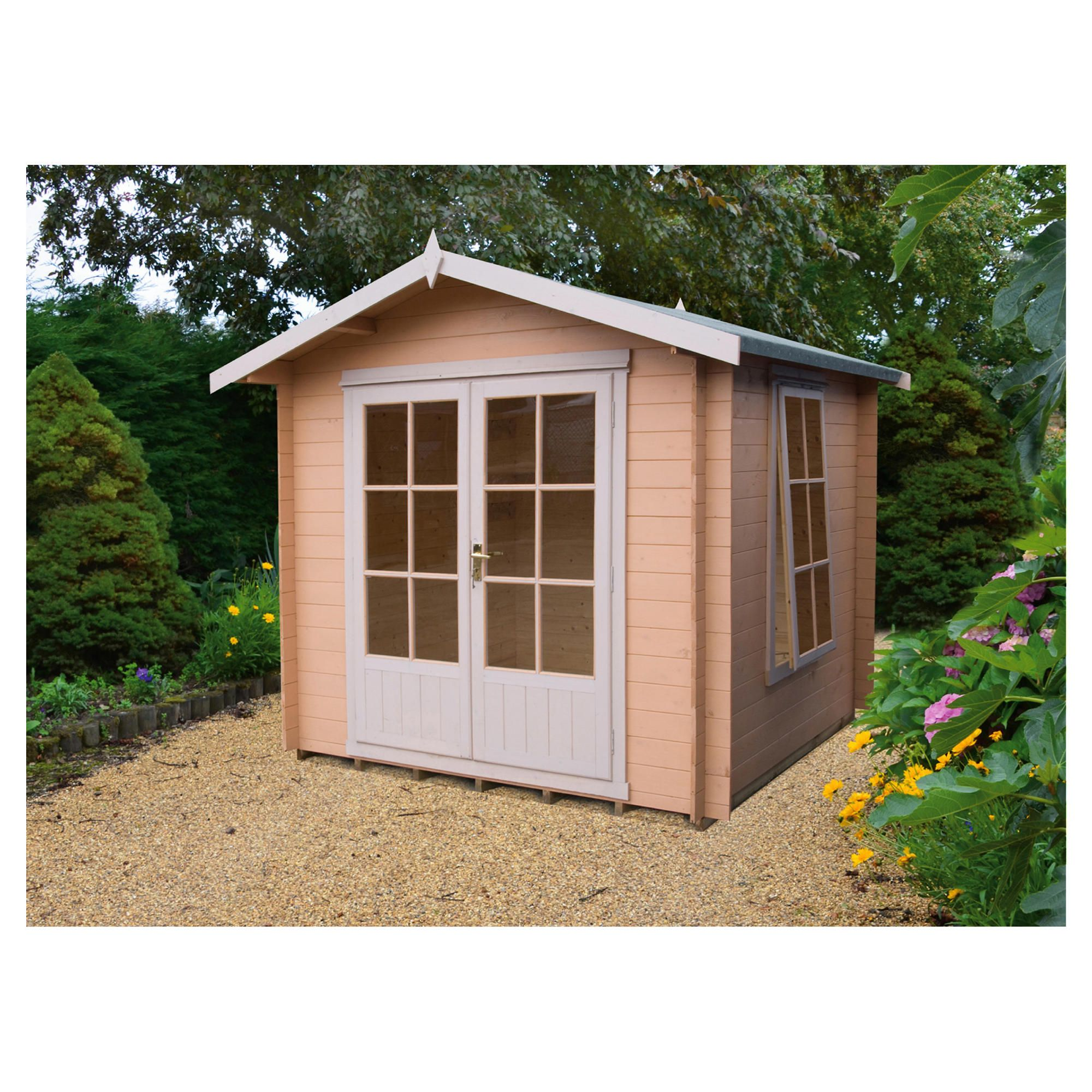 Finewood Barnsdale Log Cabin 9x9 at Tesco Direct