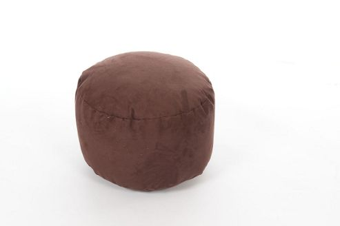 Kaikoo Faux Suede Footstool, Chocolate