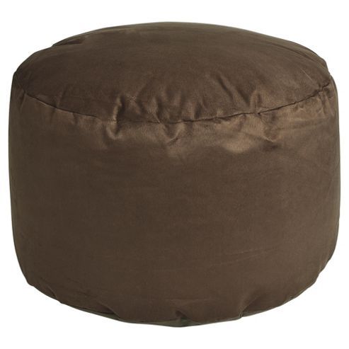 Kaikoo Faux Suede Pouffe, Chocolate