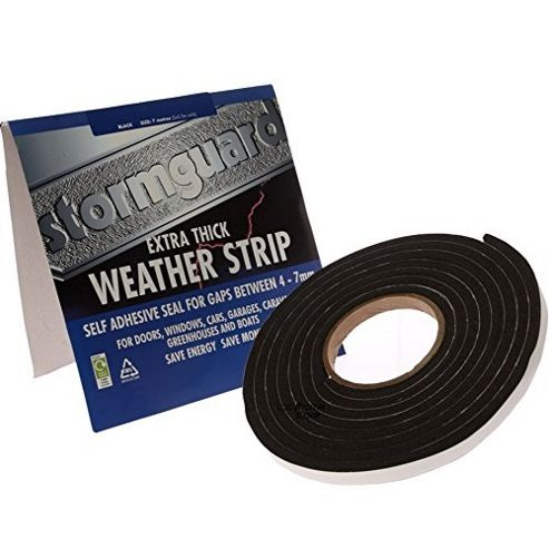 Stormguard Extra Thick Weather Strip Draught Excluder,3.5m, White