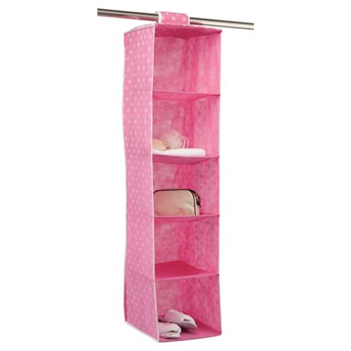 Pois Ordinatore 5 Shelf Hanging Unit, Pink