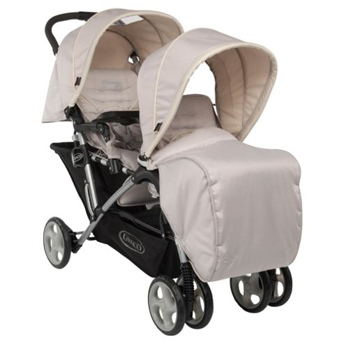 Graco Stadium Duo Tandem Travel System, Biscuit