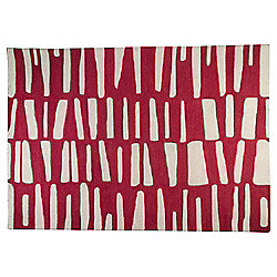 Dashes Rug 120 x 170cm, Red