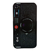 Orbyx Retro Hard Shell Old Camera Style iPhone 4/4S Black