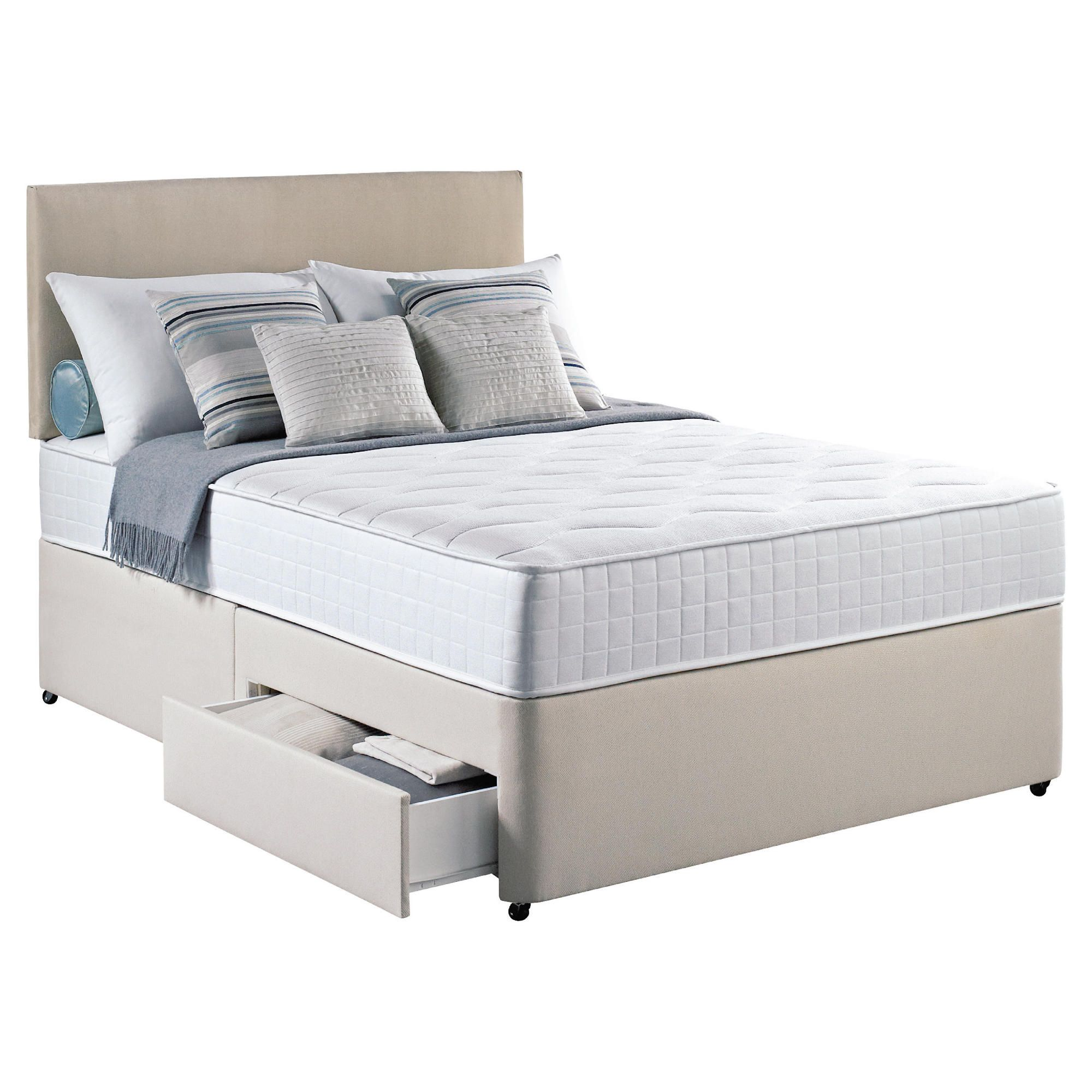 Silentnight Pocket Essentials Double 2 Drawer Divan Bed at Tesco Direct