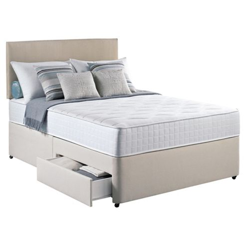 Silentnight Pocket Essentials Double 2 Drawer Divan Bed