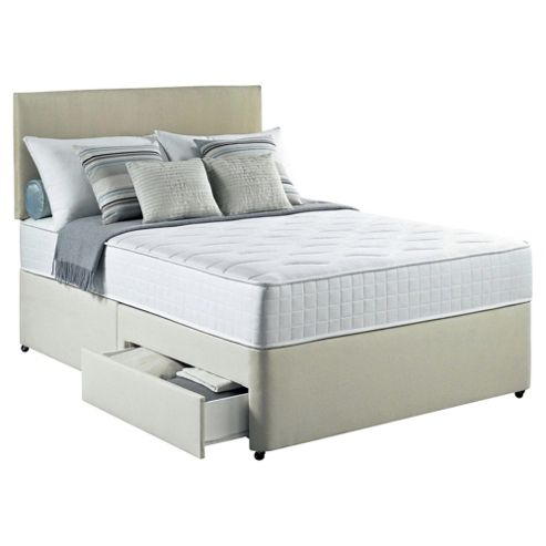 Silentnight Foxton Double Divan Bed with 2 Drawers, 1000 Pocket Luxury