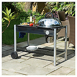 Masterchef Steel Trolley Charcoal BBQ