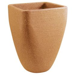 Large Square Top Round Base Planter Terraccina 33cm x H46cmq